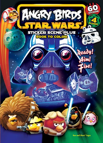 Bendon Publishing Angry Birds Star Wars Sticker Scene Coloring Book