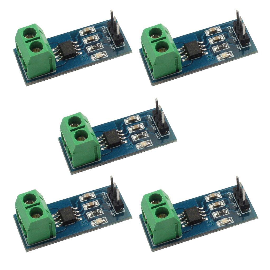 Gaoxing Tech. 5PCS 20A range ACS712 current sensor module Detector TS-GX-156