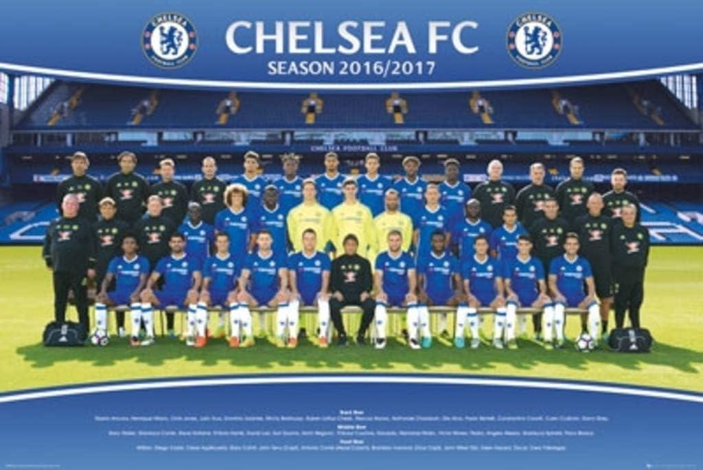 Amazon Com Poster Chelsea F C 2016 17 Squad 9 Posters Prints