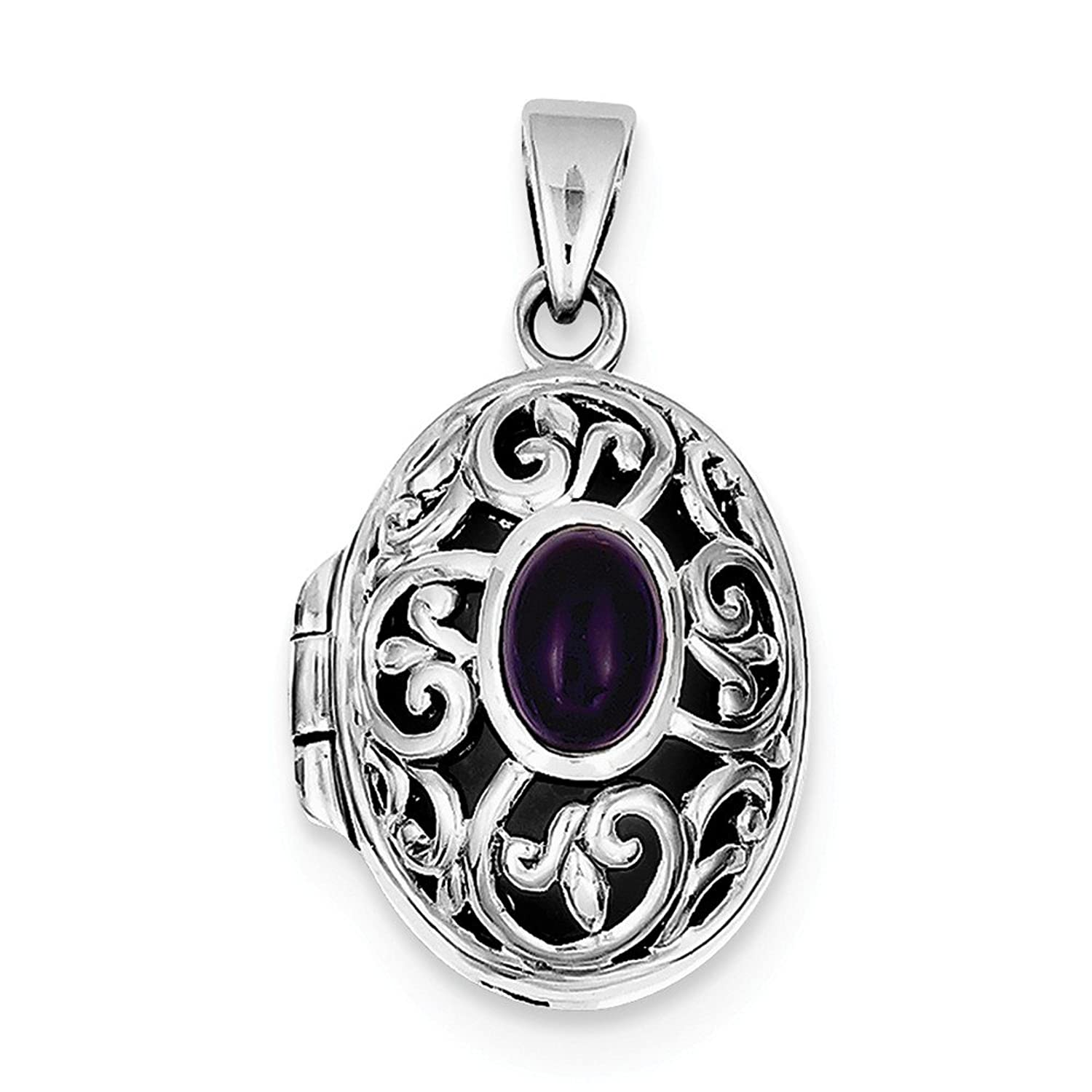 locket style p amethyst heart lockets silver antique pendant am lrg hp sterling