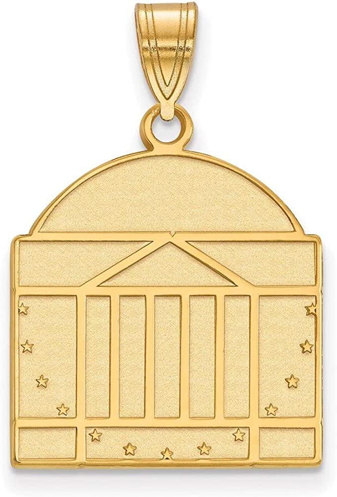 Lex /& Lu LogoArt 10k Yellow Gold University of Virginia Large Pendant LAL132051