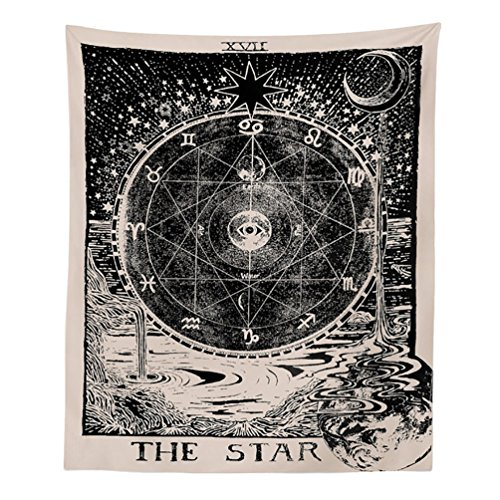 Sign Astrological - Meiyuan Sun Moon Star Astrological Signs Wall Hanging Tapestry, Hippy Hippie Tapestries, Table Cloth, Bedding Bedspread Blanket, Decorative Wall Hanging