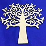 OZXCHIXU (TM) 5pcs Tree Shape for Crafts, with added love - perfect for Family Tree, Weddings (30cm)