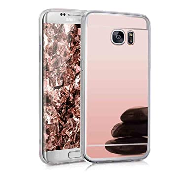 XCYYOO Funda Espejo para Samsung Galaxy S7 Edge, Protectora Movil Carcasa TPU Silicona Ultra-Fina Bumper Mirror Case, Goma Cubierta Cobertura Delgado ...