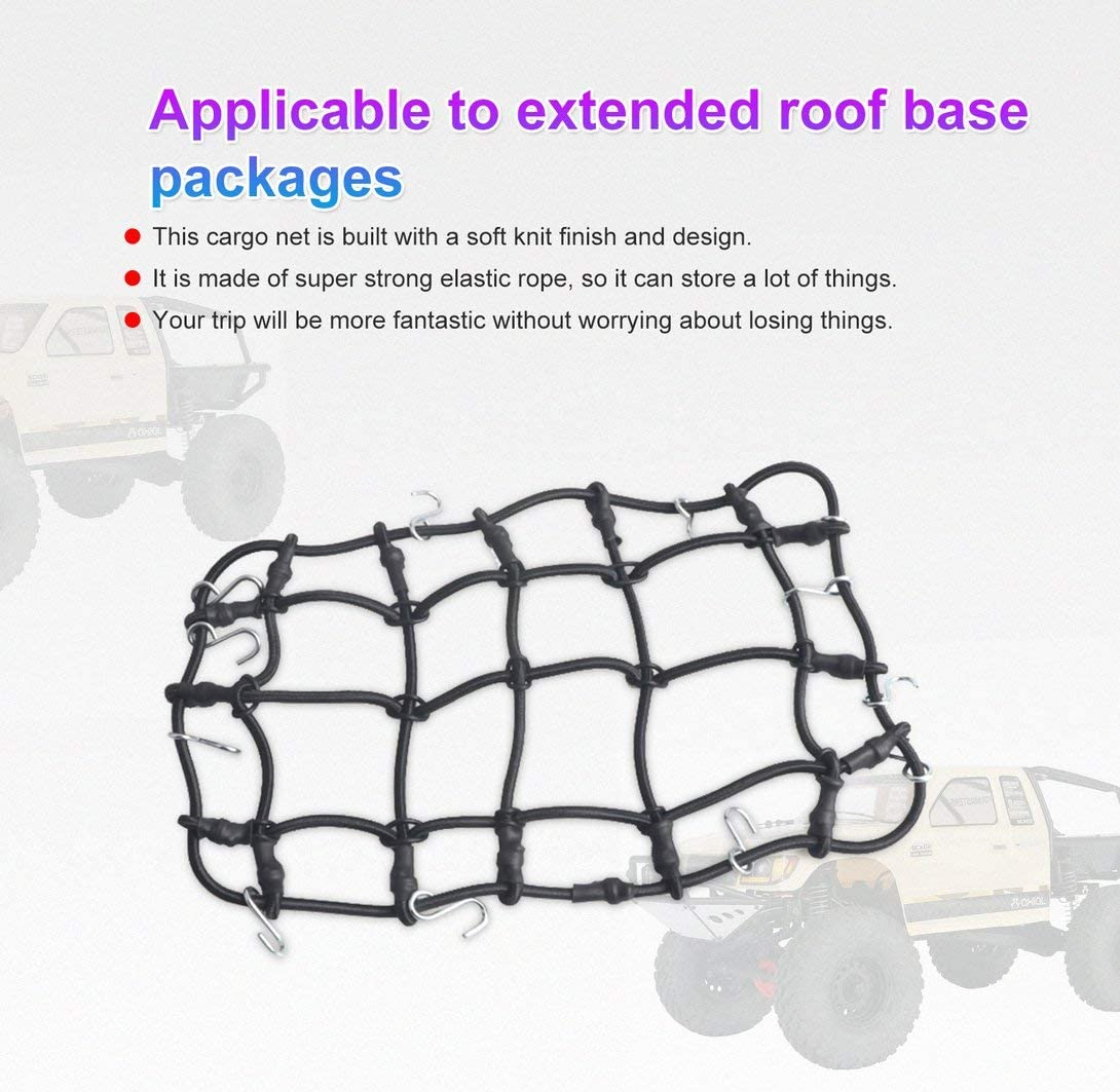 luggage cargo luggage ceiling net decoration accessories Swiftswan 1//10 remote control car track D90 Traxxas TRX-4 luggage net mesh storage