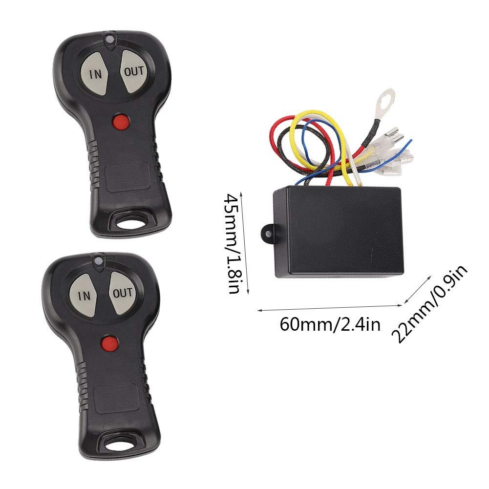1 par Controlador de cabrestante universal de 12V Controlador de control remoto de cabrestante inal/ámbrico Kit de controlador de cabrestante