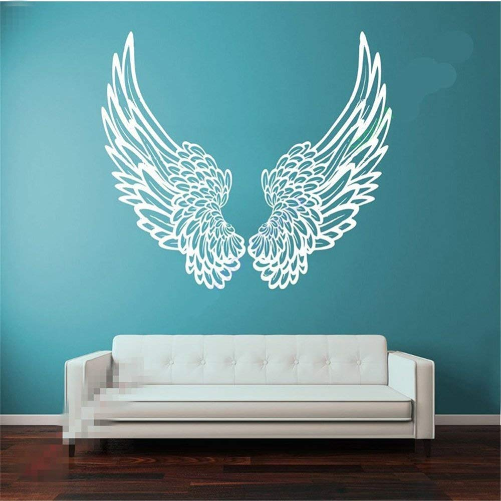 Angel Wings Wall Sticker Where Thought Goes Energy Follows Decal Quote Crystal H