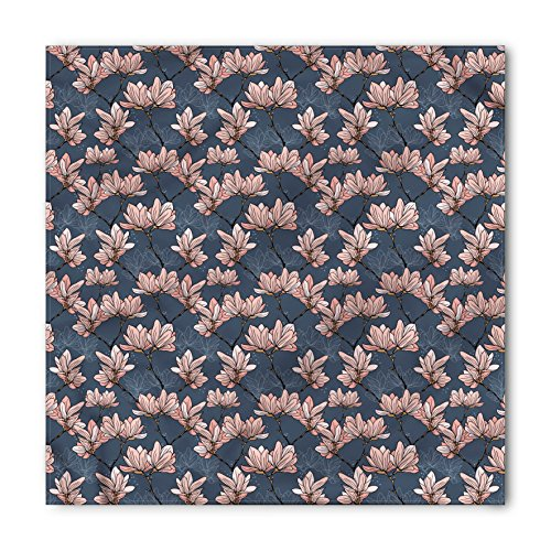 (Ambesonne Unisex Bandana, Flowers Magnolia Flowers Japan, Blue Coral)