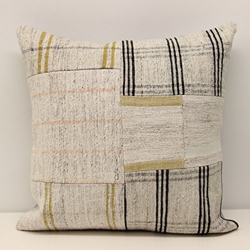 Patchwork kilim pillow cover 18x18 inch  Handmade Kilim pill
