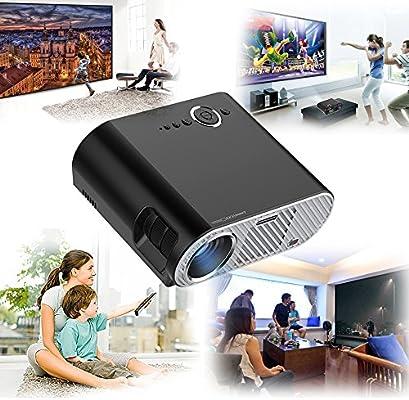3200 Lumens Proyector LED Full HD 1280 * 800 Proyector de Cine en ...