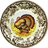 C.R. Gibson 8 Count Decorative Paper Lunch/Dessert Plates Easy Clean Up Measures  sc 1 st  Amazon.com & Amazon.com | Spode Woodland Turkey Dinner Plates Set of 4: Dinner ...