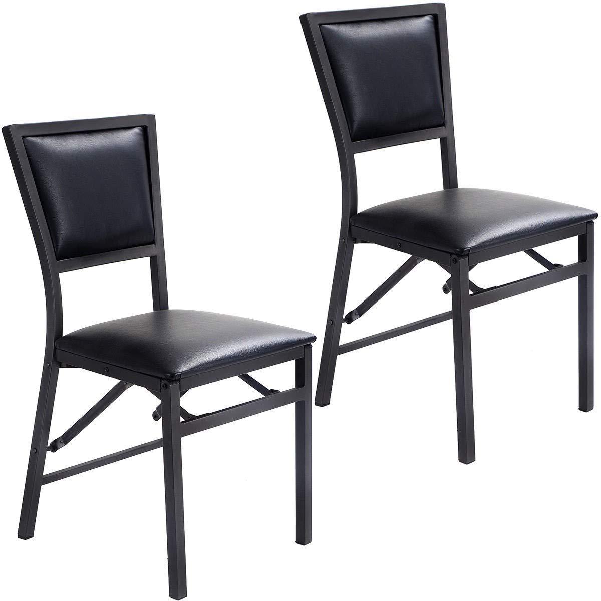 Sensational Amazon Com Set Of 2 Metal Folding Chair Dining Chairs New Ibusinesslaw Wood Chair Design Ideas Ibusinesslaworg