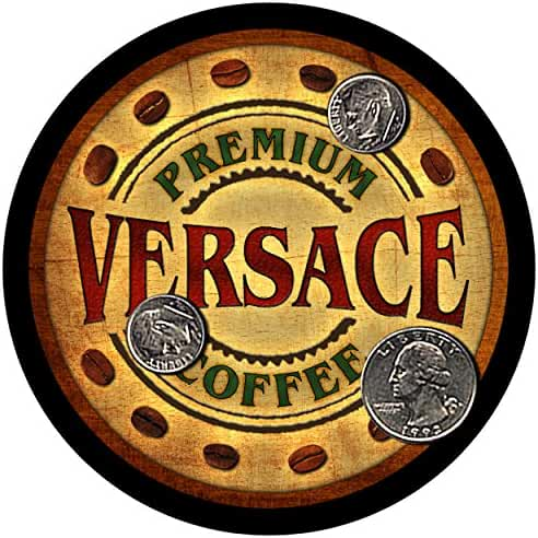 Versace Family Coffee Rubber Drink Coasters - Set of 4
