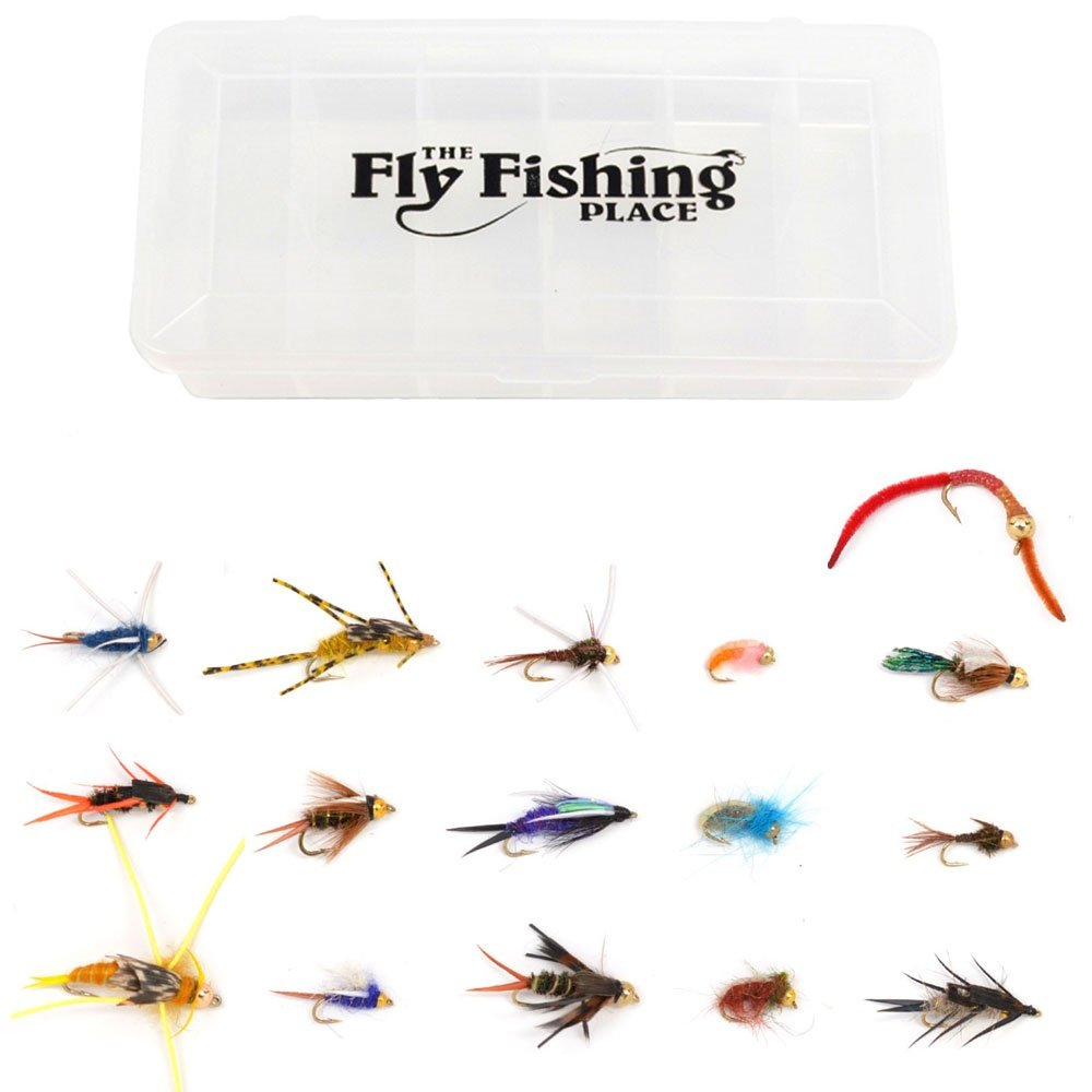 The Fly Fishing Place Guide's Choice Bead Head Nymph Fly Collection - Assortment of 16 Proven Fly Fishing Flies by The Fly Fishing Place