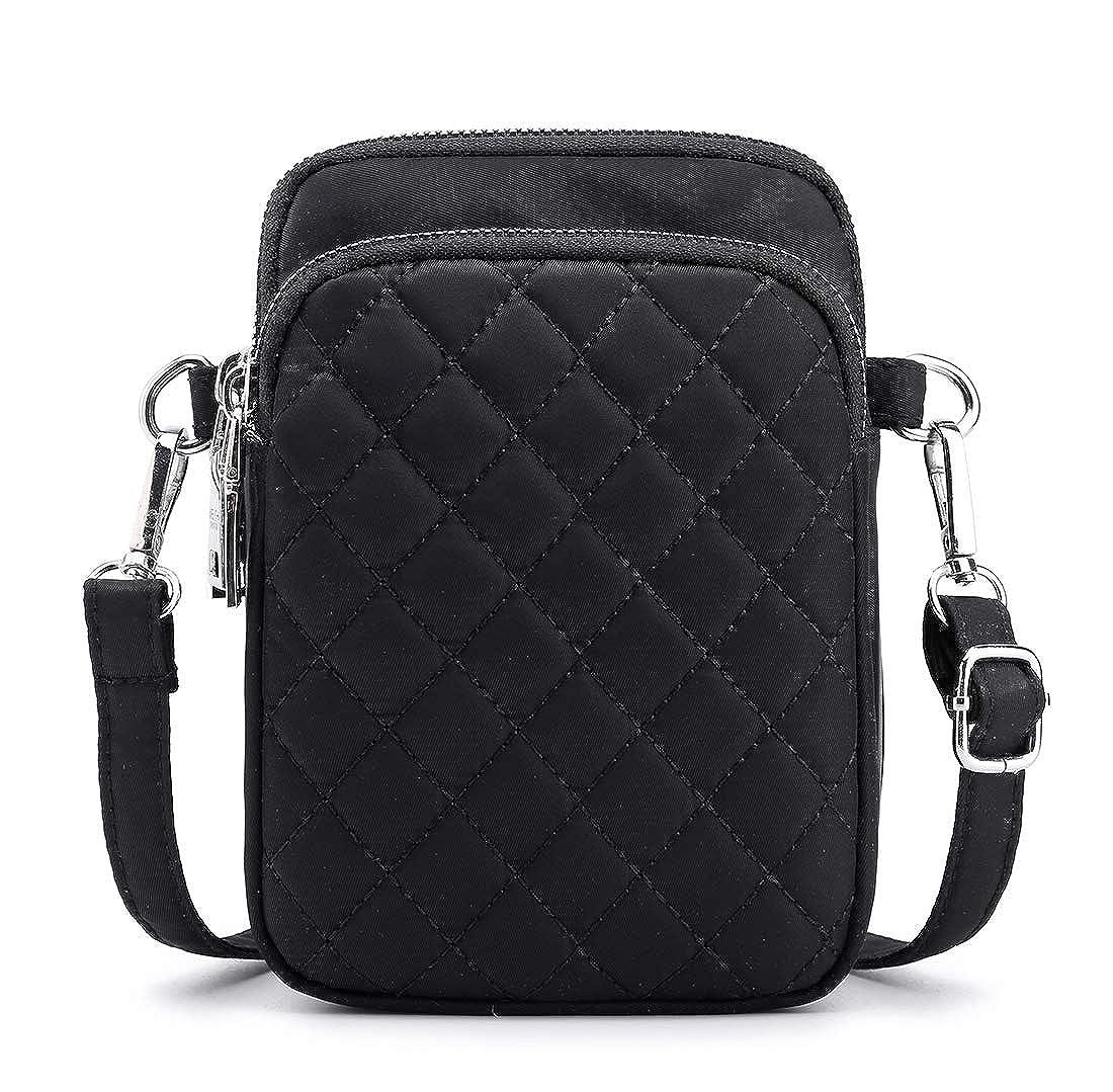 4558c865cfe9 Collsants Small Nylon Crossbody Purse for Women Small Handbags Mini Nylon  Travel Shoulder Bag Multi Zipper Pockets
