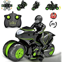 Heyean 2.4 Ghz High Speed Remote Control Motorcycles Toy 360 Degrees Action Wheels Rotating Drift Stunt Motorbike Racing Motorcycle Toys for Kids Gifts