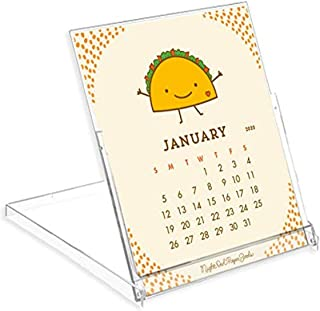 product image for Night Owl Paper Goods Fun Food 2020 Desk Calendar, White