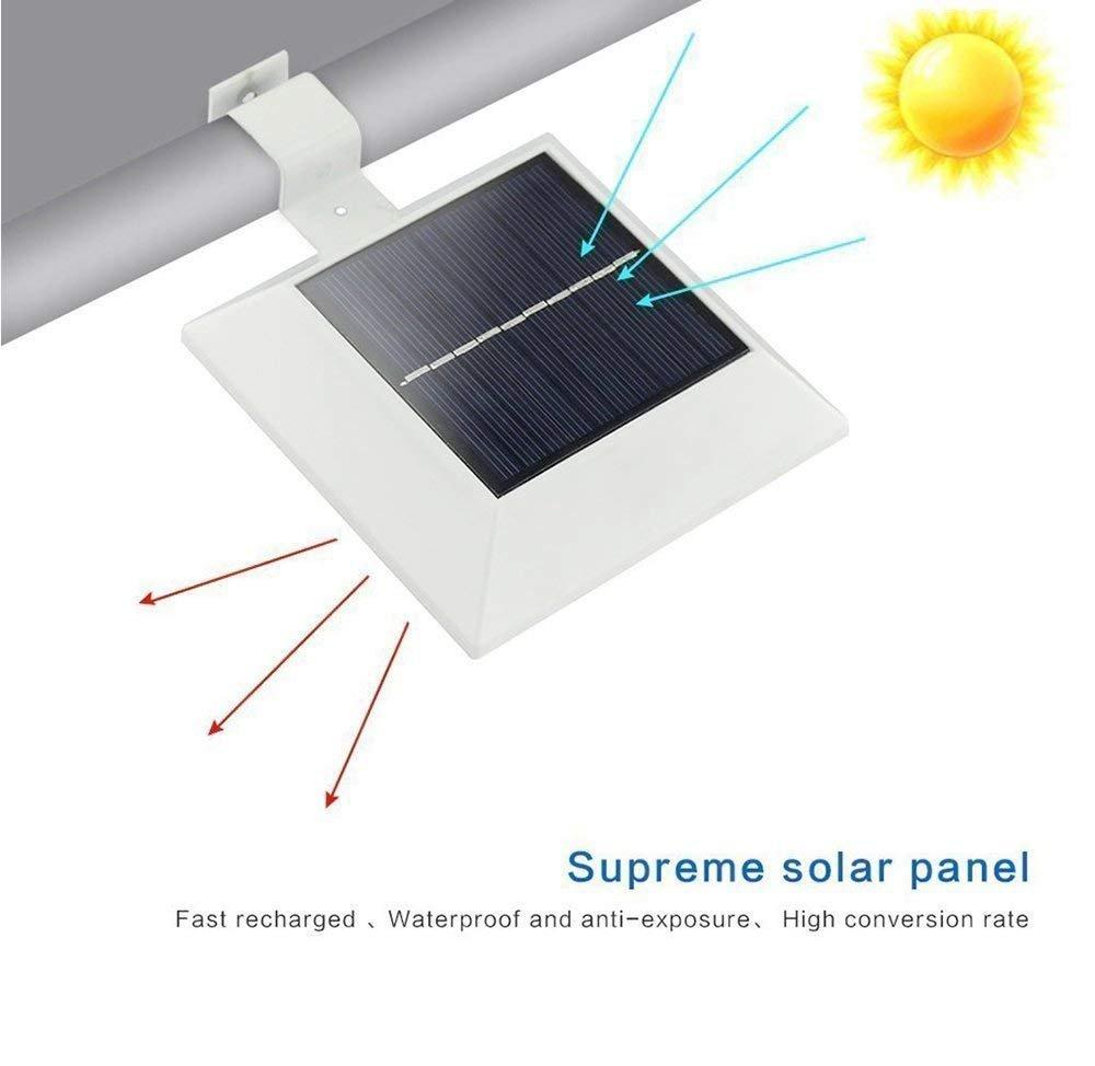 [New PIR Motion Sensor] OKSS 6 LED Solar Motion Sensor Light Outdoor Waterproof, PIR Sensor Solar Powered Led Light/Solar Light for Fence Wall Driveway Garden Patio Path Decking Light (1 Pack)
