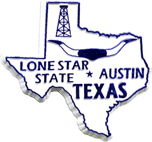 Amazon.com: Texas The Lone Star State Fridge Magnet: Refrigerator Magnets:  Kitchen & Dining