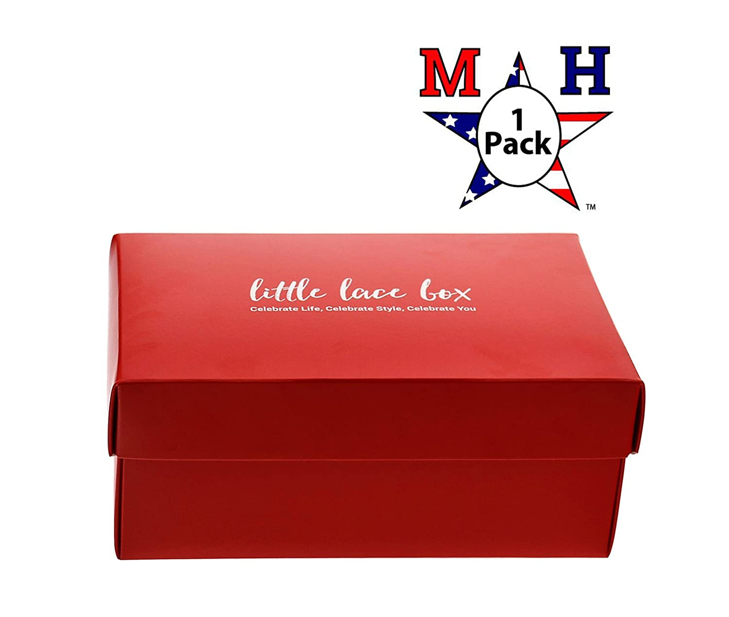 (24 Pack) 8-3/4'' W x 5-3/4'' D x 3- 11/16'' H Shoe Box Style Cardboard Container (1) Marketing Holders