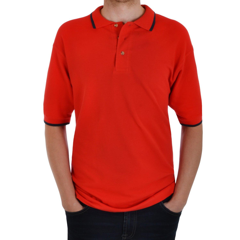 Hanes Men's Casual Plain Short Sleeve Polo Shirt
