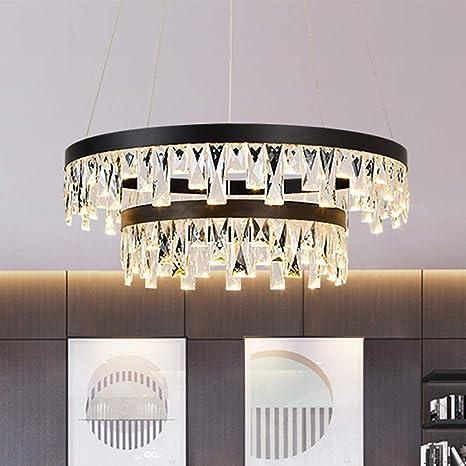 Rjj Sala De Estar De Arte Moderno Lámpara De Cristal Doble ...