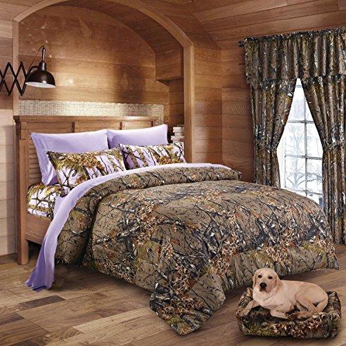 20 Lakes Woodland Hunter Camo Comforter, Sheet, & Pillowcase Set (Queen, Forest)