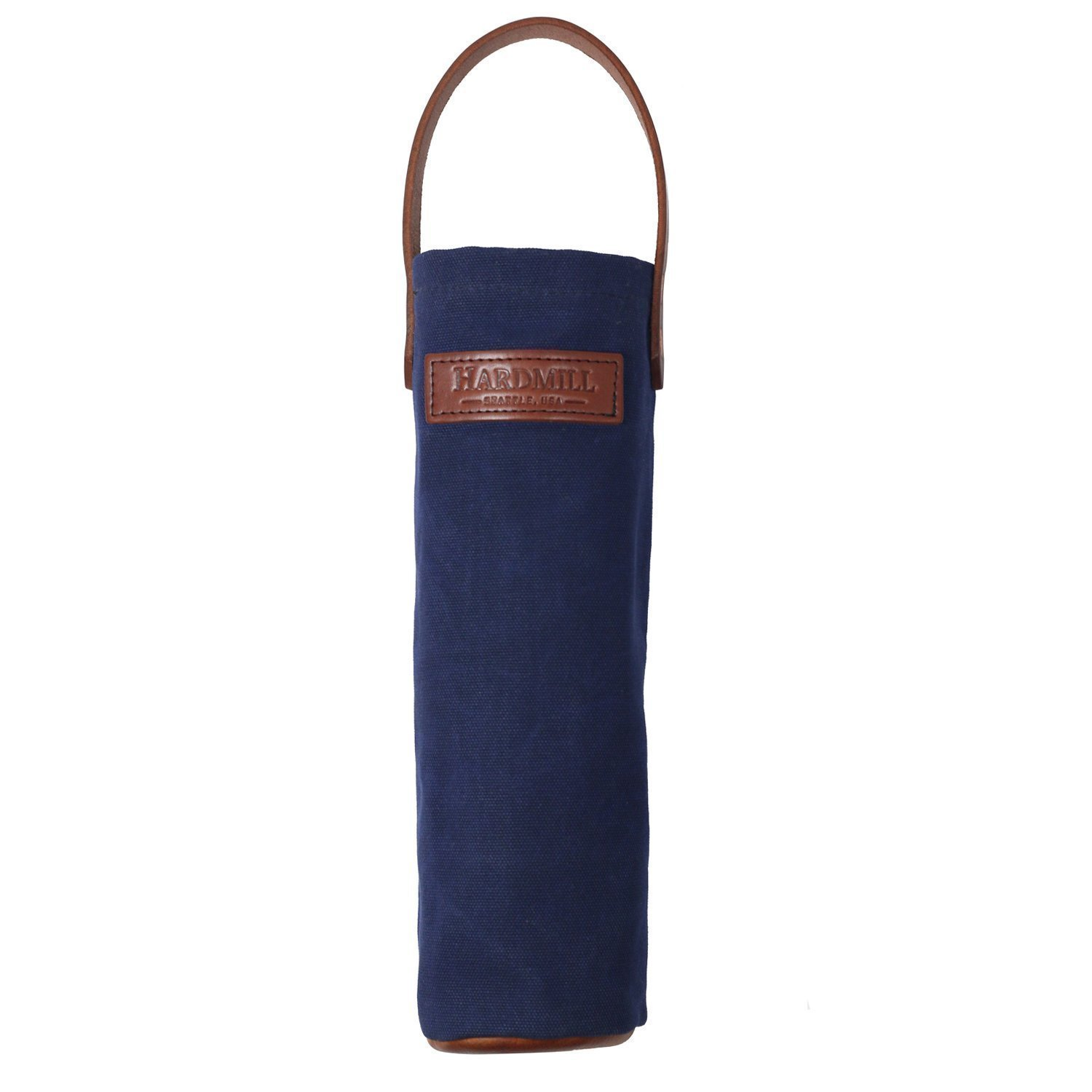 Wine Tote - Waxed Canvas - Navy - Made in USA