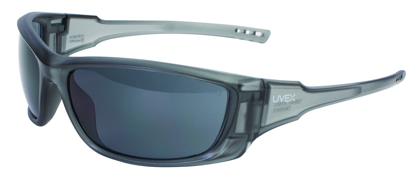 UVEX by Honeywell S2161 A1500 Series Safety Eyewear with Gray Frame, Gray Lens and Scratch-Resistant Hard Coat