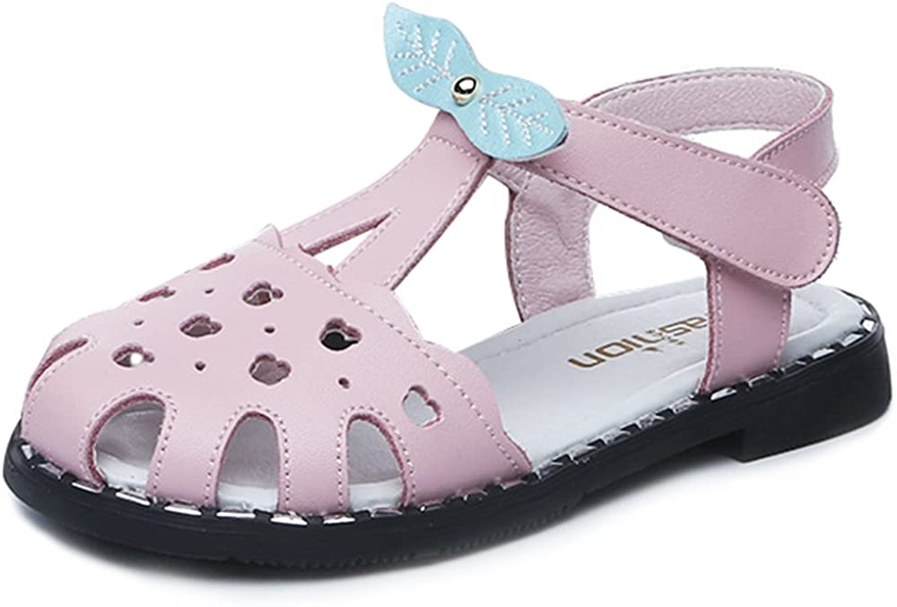 GAXmi Girls Sandals Kids Closed Toe Leather Fisherman Sandals for Toddler Baby Big Girl