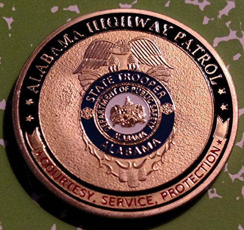 - Alabama State Highway Patrol Trooper Police Challenge Art Coin