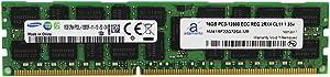 Adamanta 16GB (1x16GB) Server Memory Upgrade for Dell Poweredge & Precision Servers Samsung Original DDR3L 1600Mhz PC3L-12800 ECC Registered 2Rx4 CL11 1.35v P/N: SNP20D6FC/16G DRAM RAM