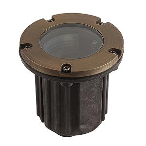 Liberty LBE-202-AB 12V Cast Brass Well/in-ground Light - LED Compatible Landscape Light, Antique Bronze