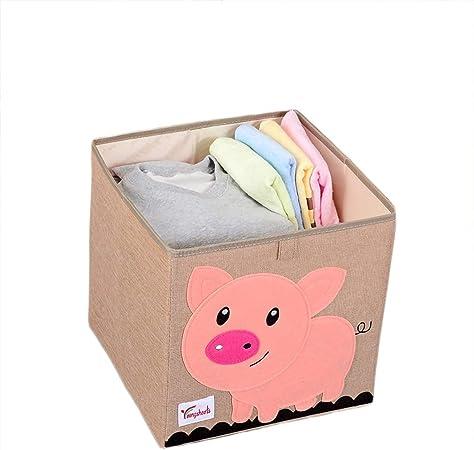 GLITZFAS Caja de Almacenamiento para habitación Infantil diseño de Dibujos Animados, Gran Capacidad, Plegable, para Guardar Juguetes, Ropa, Zapatos: Amazon.es: Hogar