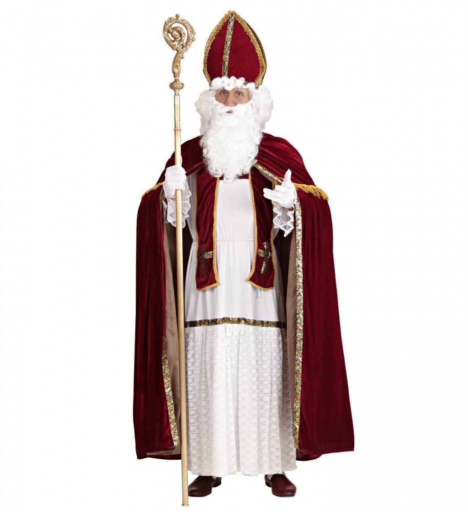 Shoperama Saint Nicholas Nikolaus Kostüm für Herren Gr. L/XL Santa Claus Weihnachtsmann Erzbischof