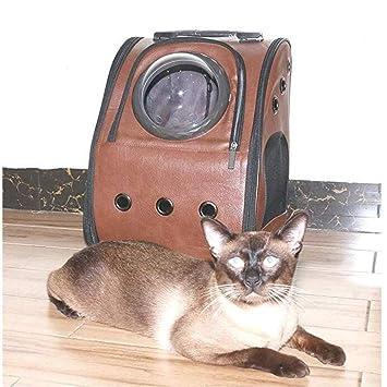 Perros Portadores Mochila Portátil Viajero Bolso Para Gatos Y Perros Pequeños Con Espacio Transparente Visión Cojín