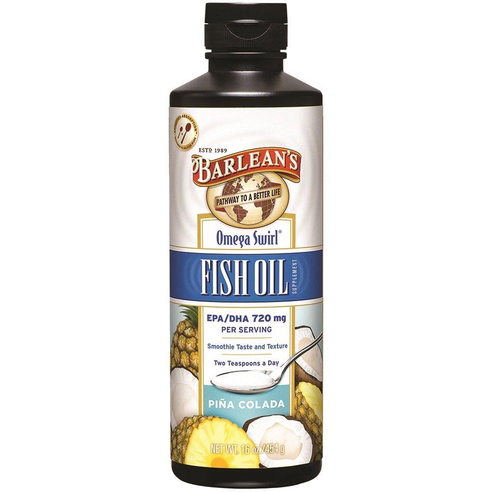 Barlean's Omega Swirl Fish Oil, Piña Colada, 16-oz