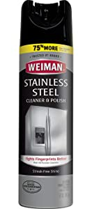 Weiman Stainless Steel Cleaner & Polish Aerosol 17 oz - 6 Pack