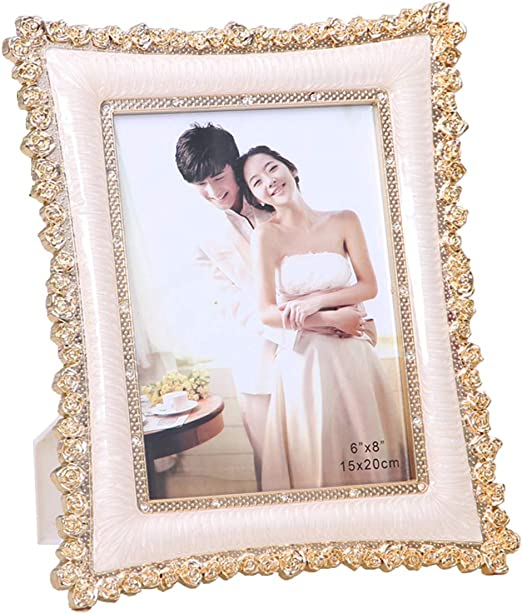 Amazon Com Aries Tuttle 6 7 8 10 Shiny Gold Sliver Metal Wedding Party Picture Photo Frames Home Desk Wall Decor Home Kitchen