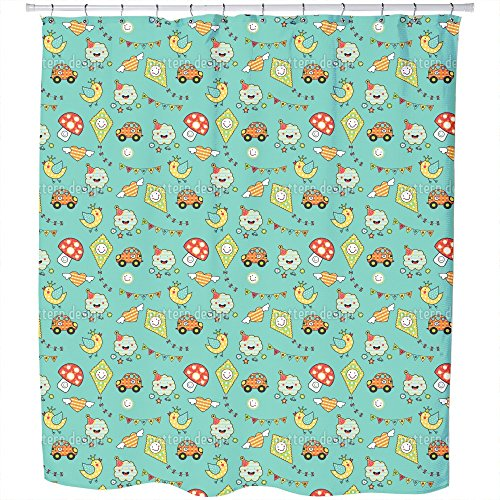 Come On Kids Shower Curtain: Large Waterproof Luxurious Bathroom Design Woven Fabric by uneekee
