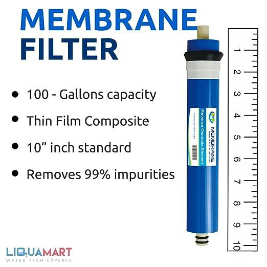 100 GPD membrana de película delgada Ro ósmosis inversa filtro de agua sistema: Amazon.es: Bricolaje y herramientas