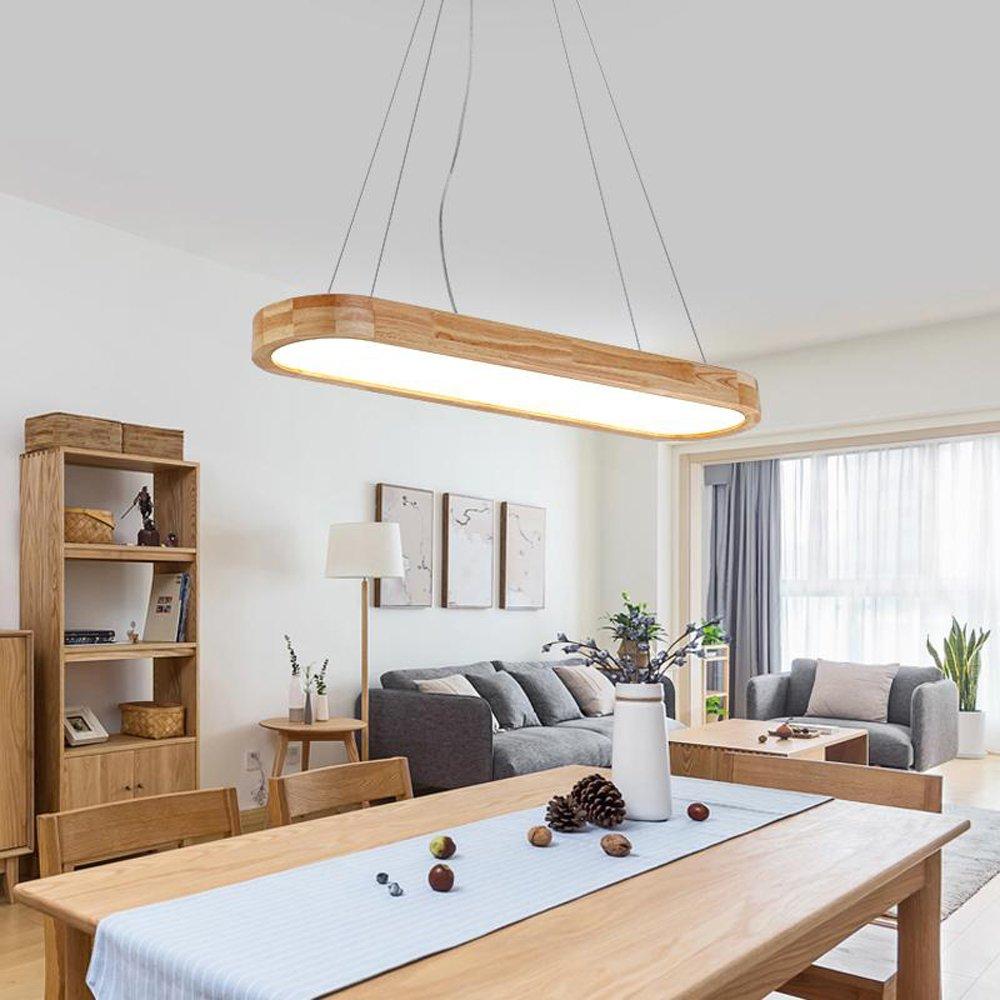 LED Pendelleuchte esstisch esstisch esstisch I CBJKTX  Pendellampe 48W  90cm Esstischlampe aus Holz  dimmbar mit der Fernbedienung 2700-6500K  höhenvestellerbar Hängeleuchte  Hängelampe für Esszimmer,Schlafzimmer, Wohnzimmer,Küche,café, Hote bc5261