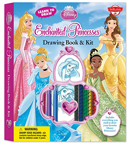 Learn To Draw Disney S Enchanted Princesses Drawing Book Kit