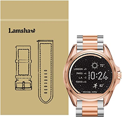for Michael Kors Access Bradshaw Bands, Lamshaw Stainless Steel Metal Replacemet Straps for MK Access Touchscreen Bradshaw Smartwatch ...