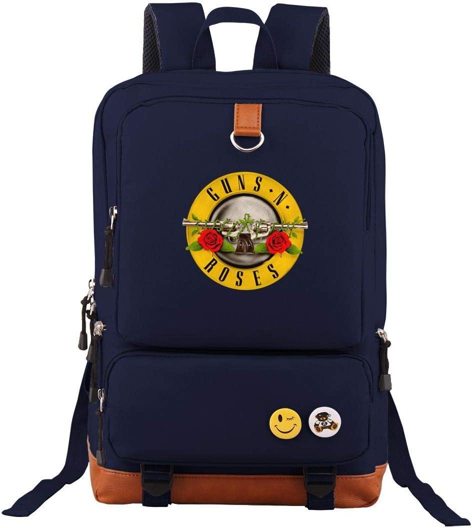 Guns-N-Roses Travel Laptop Backpack Business Slim Durable Computer Bag for Men Women Navy