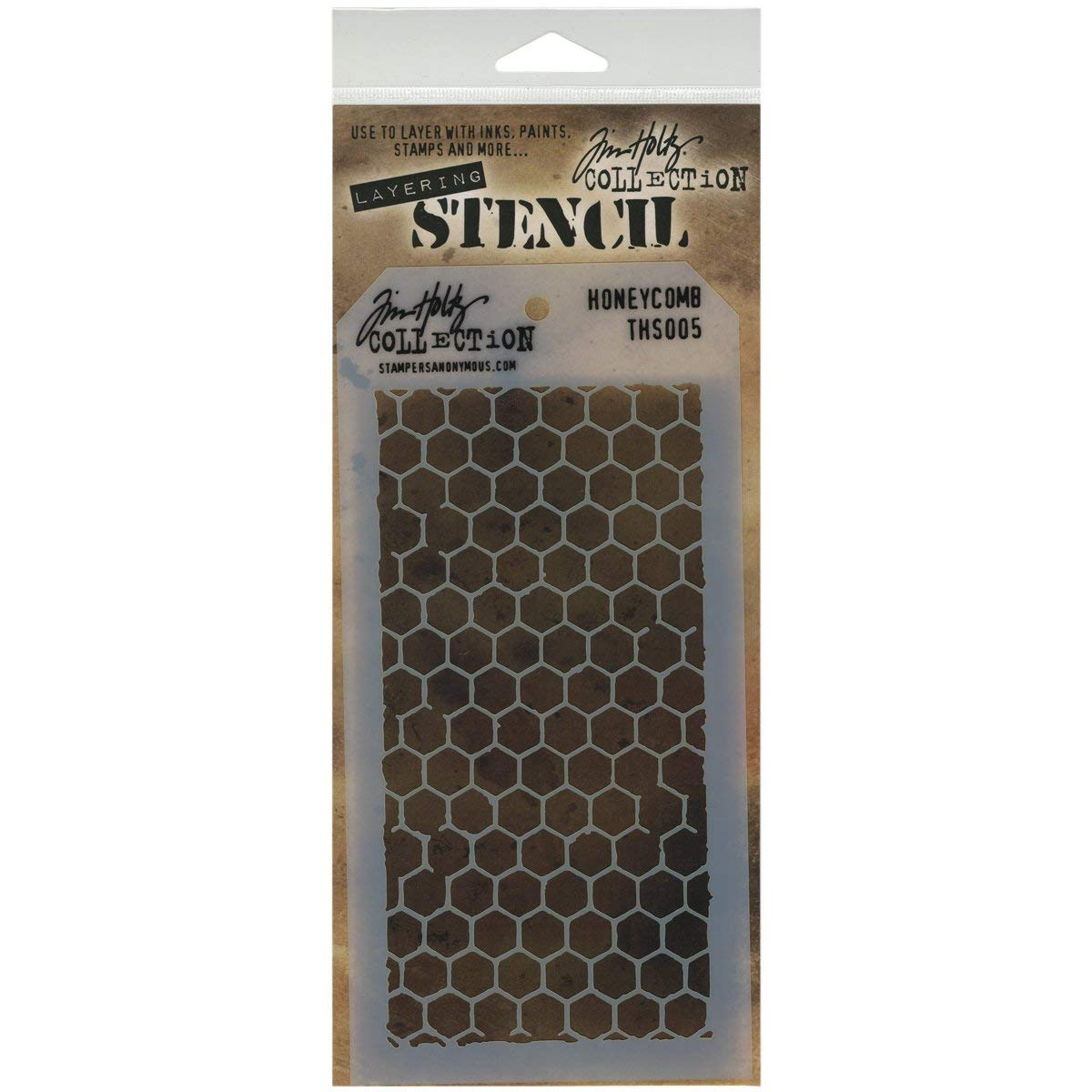 Stampers Anonymous Tim Holtz Layered Stencil 4.125-inch x 8.5-inch Honeycomb