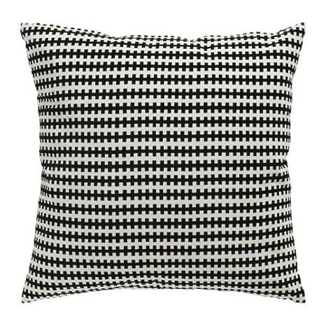 Amazon.com: IKEA cojín negro y blanco funda de almohada con ...