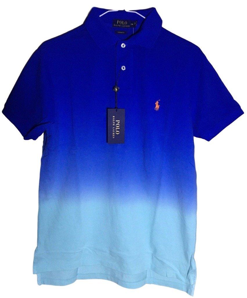 Polo Ralph Lauren Men Custom Fit Mesh Pony Logo Shirt (XL, BrightIMP)