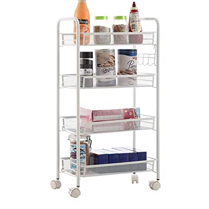 Merveilleux GAOYANG Kitchen Trolley Rack, The Pulley Can Be Moved, Vegetable And Fruit  Storage Rack