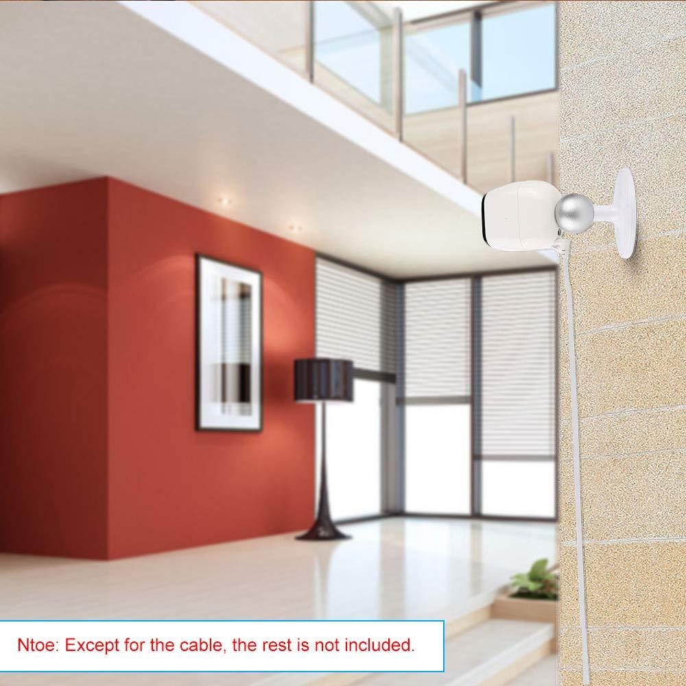 sin Enchufe Ligero y Impermeable OWSOO Cable de Alimentaci/ón de Carga Cable Micro USB para Arlo Pro//Arlo Pro 2//Arlo GO// Arlo 2M//6.6ft Cable Plano Interior // Exterior Aleaci/ón de Aluminio